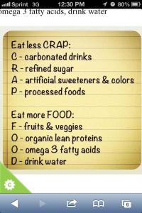CRAP v FOOD