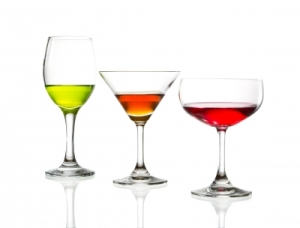 glasses of alcohols