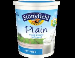 plain yogurt Stonyfield