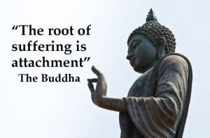the root of all suffering is attachment