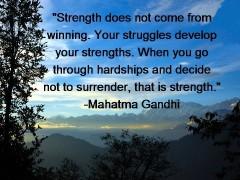 inner strength gandhi quote