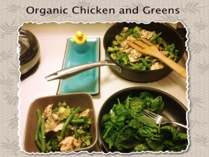 Organic Chicken and Greens