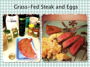 organic steak and eggs