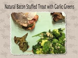 bacon stuffed trout
