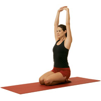 arms over head stretch, yoga, stretching